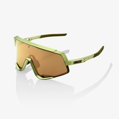 100% 100% Glendale Sunglasses, Matte Metallic Viperidae frame - Bronze Multilayer Mirror Lens