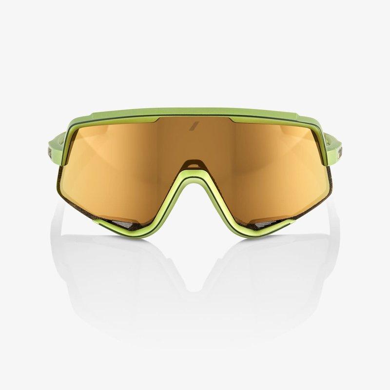 100% 100% Glendale Sunglasses, Matte Metallic Viperidae frame - Bronze Multilayer Mirror Lens
