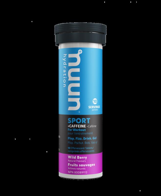 Nuun Nuun, Sport with Caffeine, Drink Mix, Wild berry single
