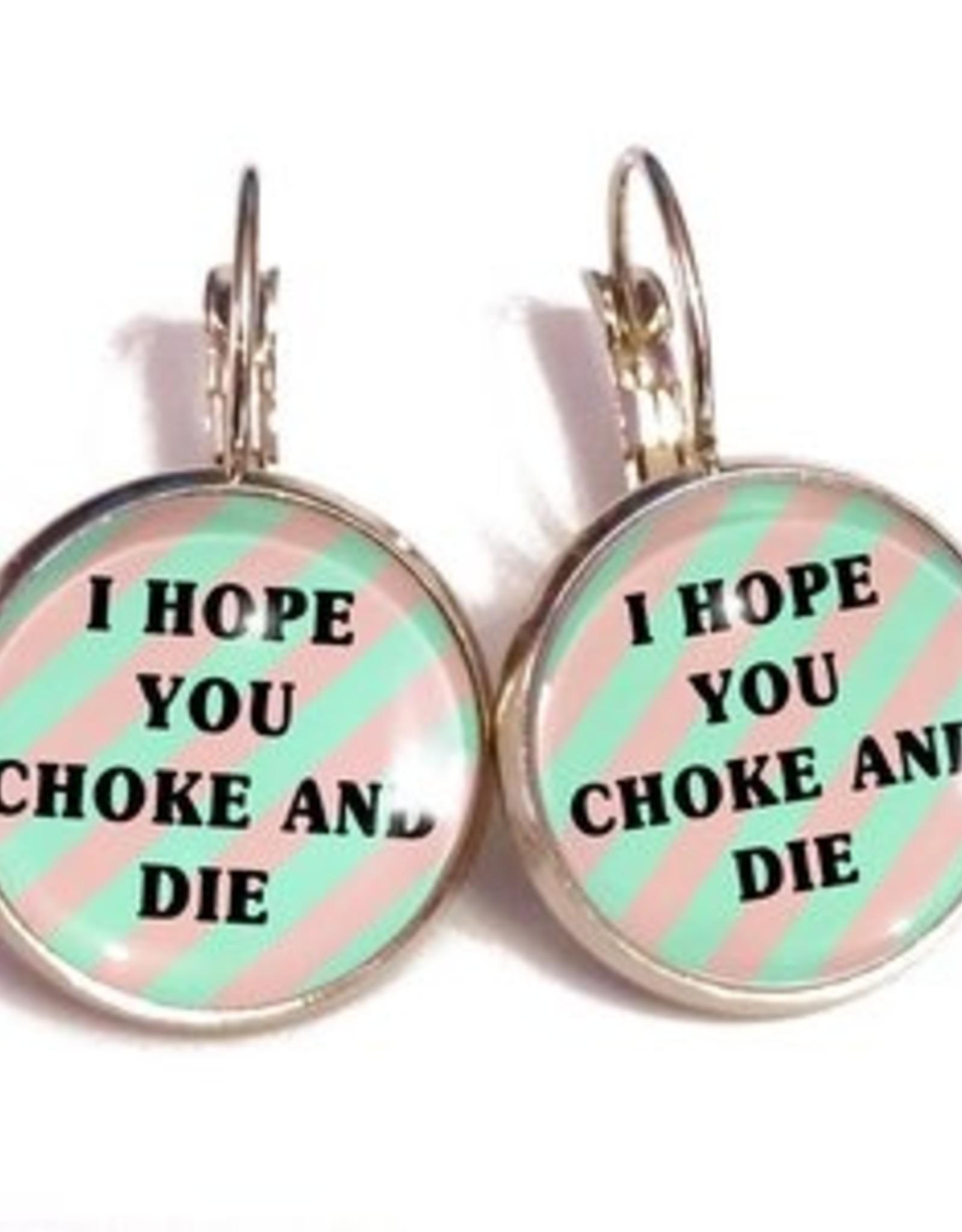 Choke and Die Earrings