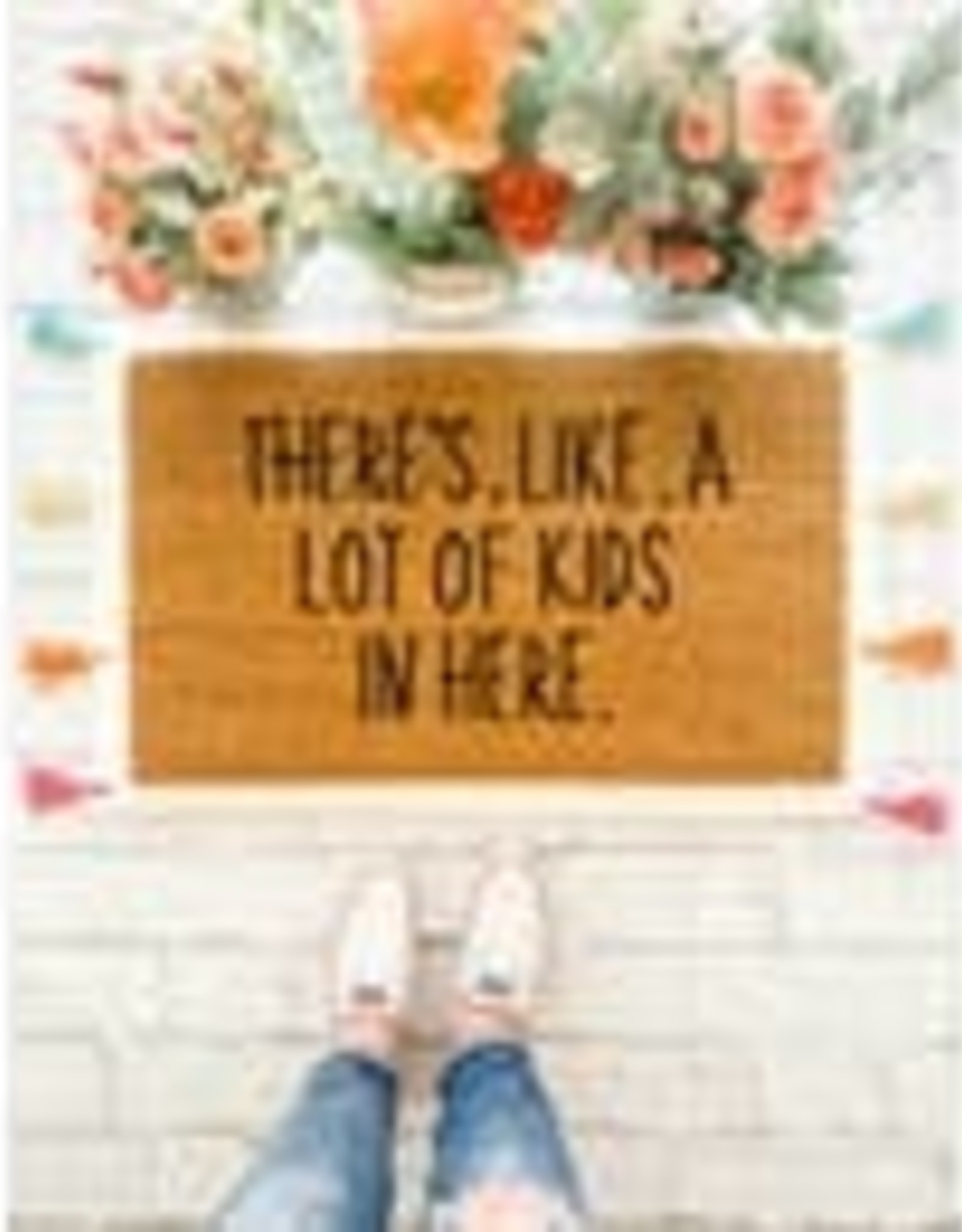LIKE A LOT OF KIDS DOORMAT