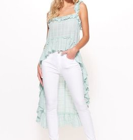 CATHERINE RUFFLED HI LO TOP