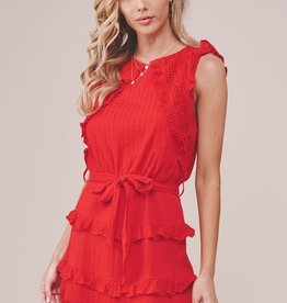 EMMA RUFFLED TRIM SHIFT DRESS