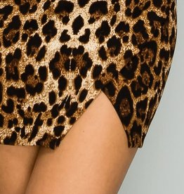 KELSEY LEOPARD LAYER HEM MINI