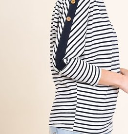 JOJO STRIPED LONG SLEEVE TOP