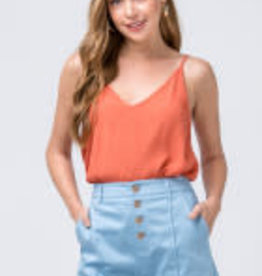 HEIDI BUTTON-UP SHORTS WITH SEAM