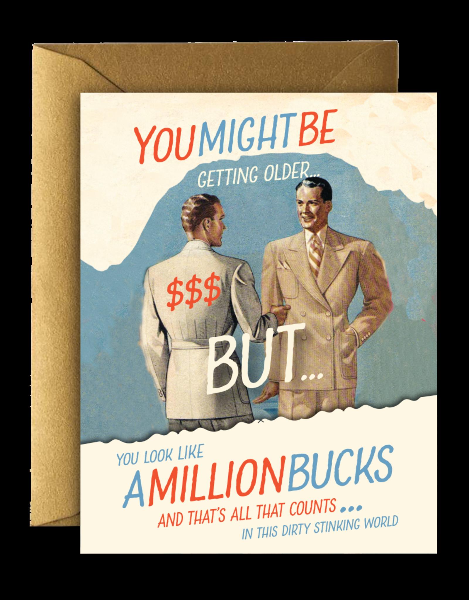 MILLION BUCKS BIRTHDAY CARD