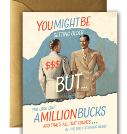 MILLION BUCKS BIRTHDAY CARD