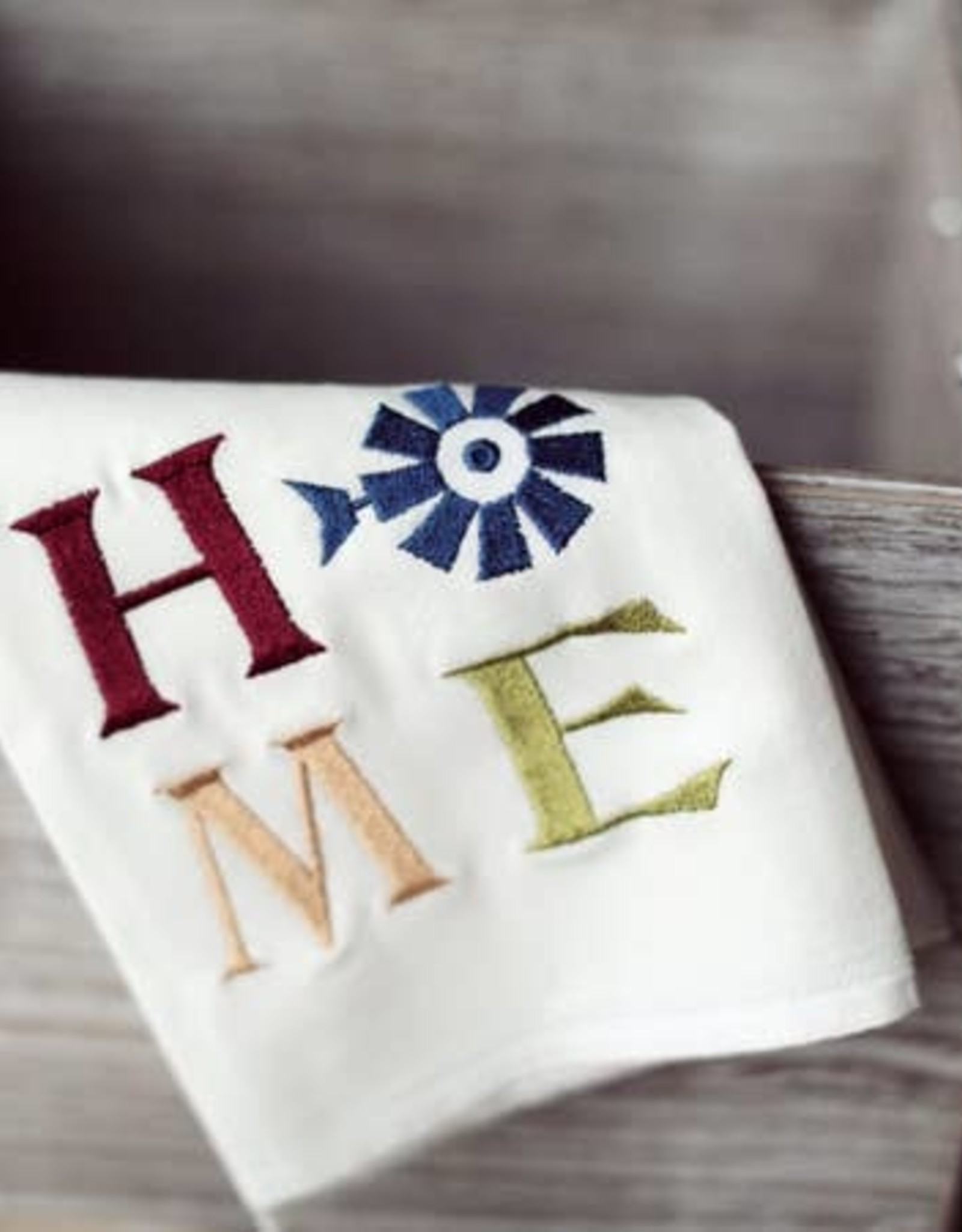 HOME TEA TOWEL- EMBROIDERED