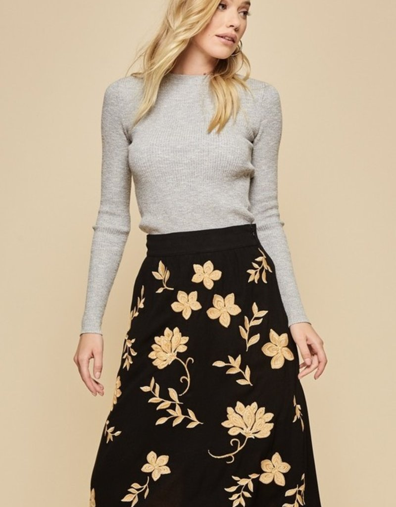 ANDREE BY UNIT CARA EMBROIDERED SKIRT