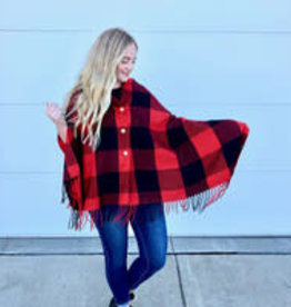 PRETTY SIMPLE BUFFALO CHECK BUTTON SCARF