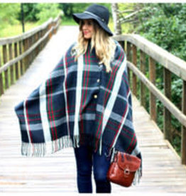PRETTY SIMPLE TARTAN PLAID SHAWL SCARF