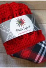 PLAID SPIRIT RED PLAID BRIM REVERSIBLE HAT