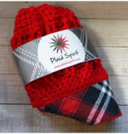 PLAID SPIRIT RED PLAID BRIM REVERSIBLE HAT