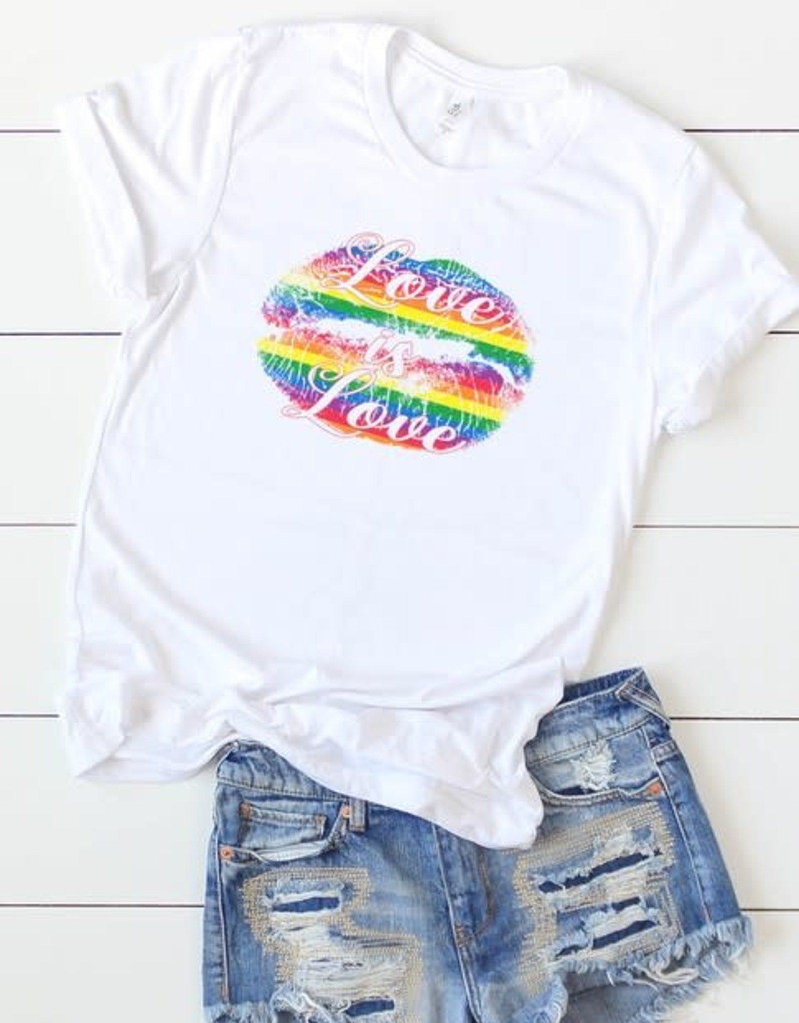 KISSED APPAREL LOVE IS LOVE