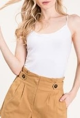 DANA BUTTON FRONT COTTON SHORTS