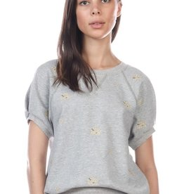 CURRENT AIR ELLE FLOWER SWEATSHIRT
