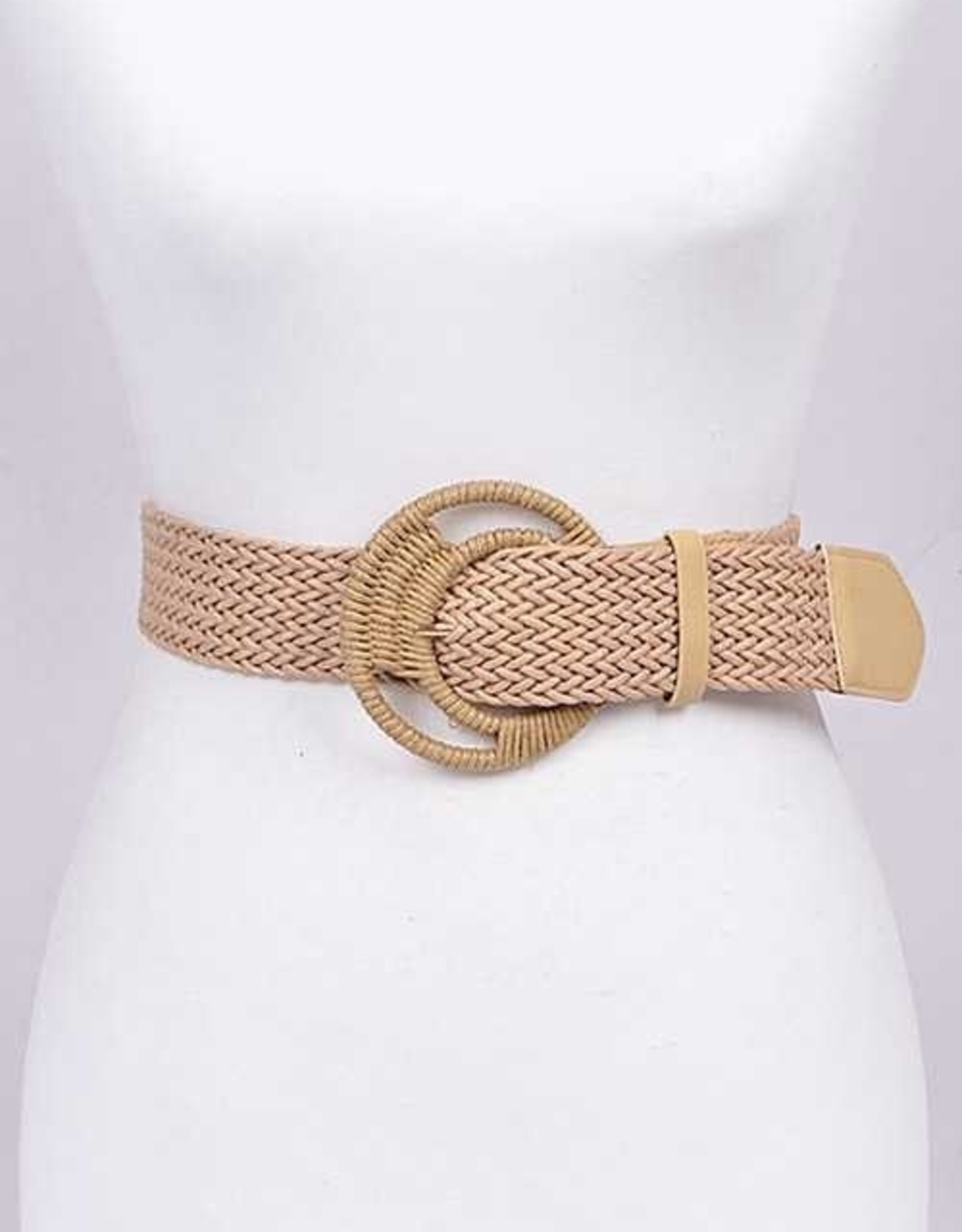 BRAIDED ICONIC BUCKLE FASHION BELT