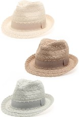 SUMMER FEDORA WITH LACE DETAIL