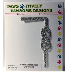 Paws-Itively Pawsome Designs Corner Knotted Rope - Die