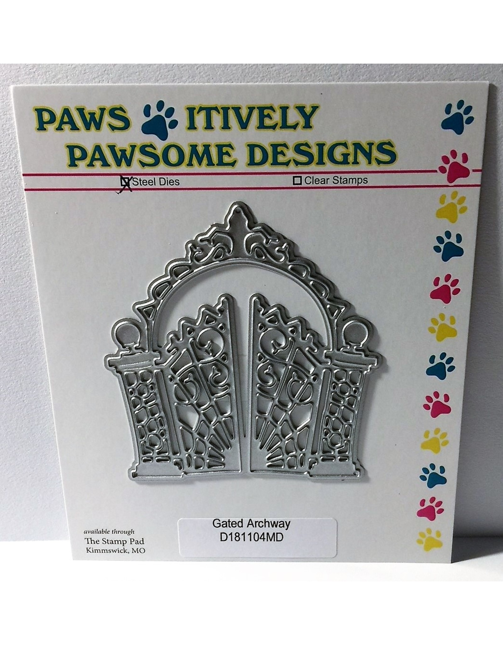 Paws-Itively Pawsome Designs Gated Archway - Die