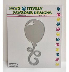 Paws-Itively Pawsome Designs Party Balloon - Die