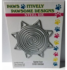 Paws-Itively Pawsome Designs Spiral Sun