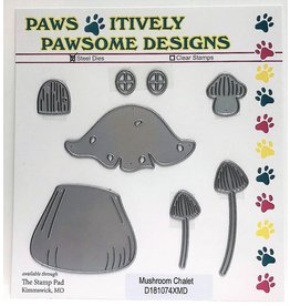 Paws-Itively Pawsome Designs Mushroom Chalet - Die