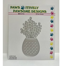 Paws-Itively Pawsome Designs Potted Jade - Die