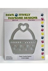 Paws-Itively Pawsome Designs Heart Handle Basket - Die