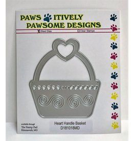 Paws-Itively Pawsome Designs Heart Handle Basket