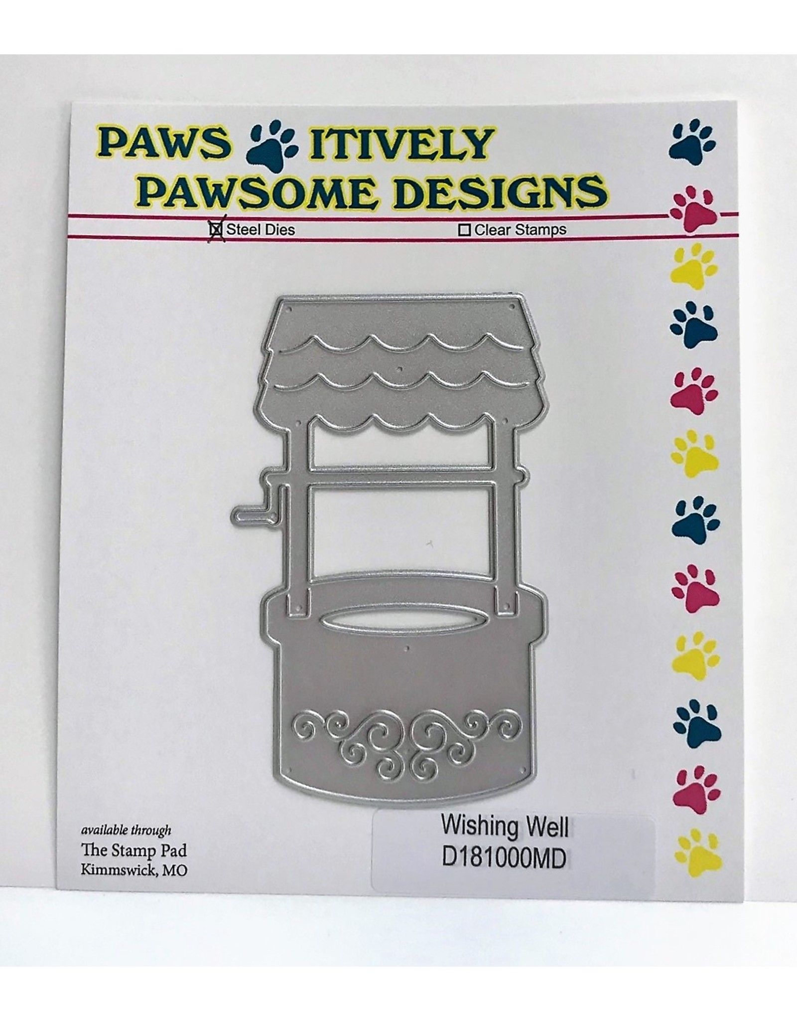 Paws-Itively Pawsome Designs Wishing Well - Die