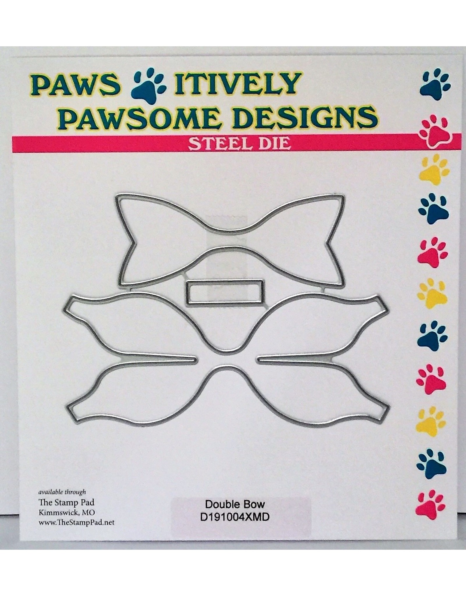Paws-Itively Pawsome Designs Double Bow - Die
