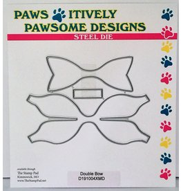 Paws-Itively Pawsome Designs Double Bow
