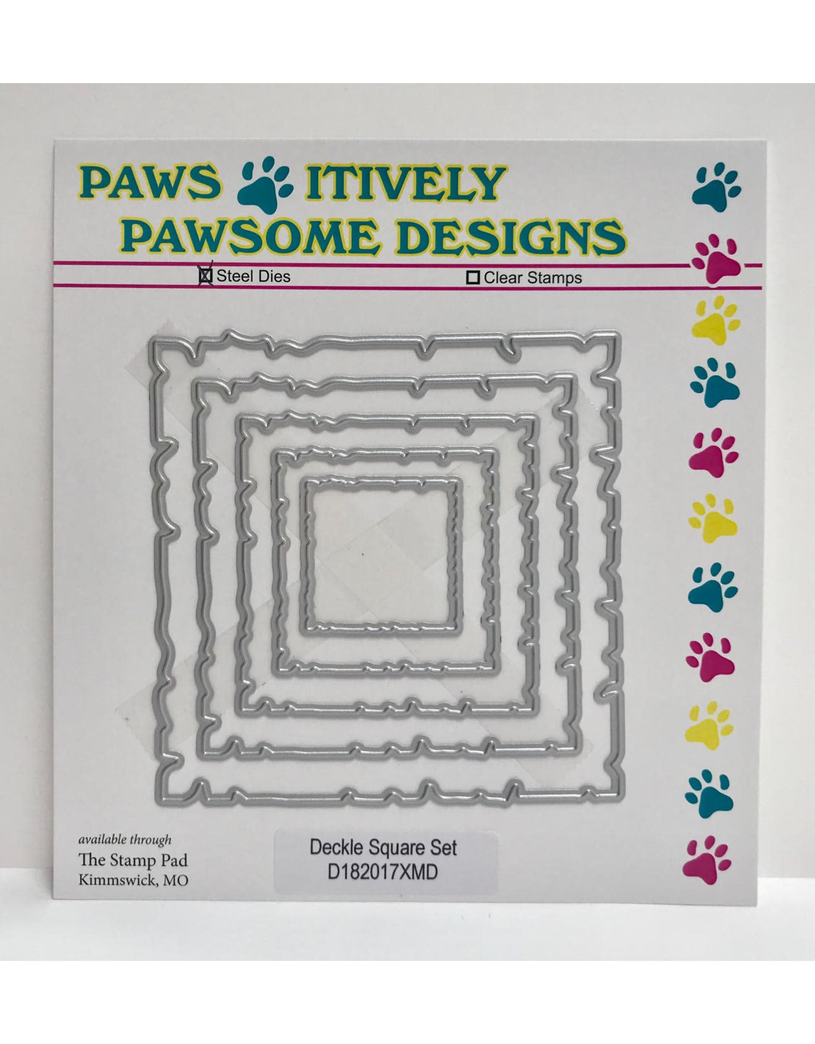 Paws-Itively Pawsome Designs Deckle Square Set - Die