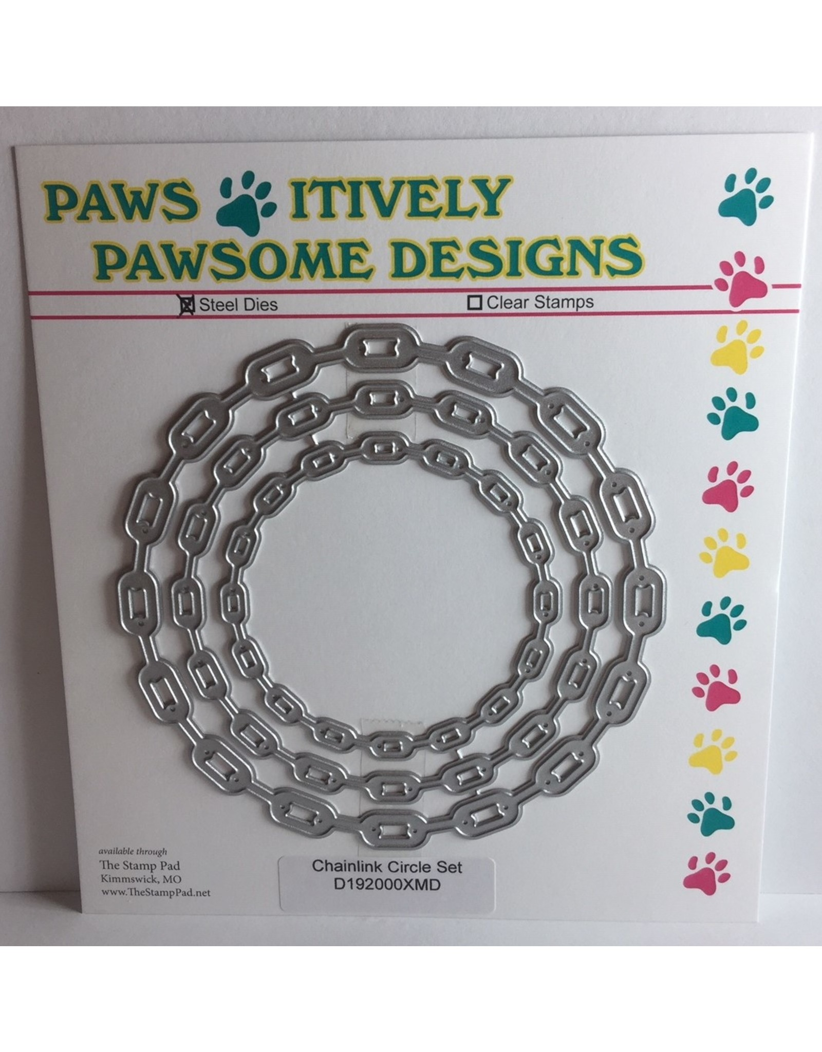Paws-Itively Pawsome Designs Chainlink  Circle Set - Die