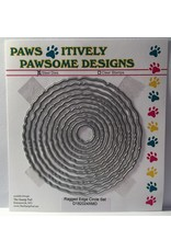 Paws-Itively Pawsome Designs Ragged Edge Circle Set - Die