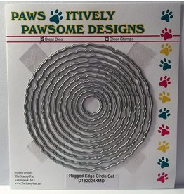 Paws-Itively Pawsome Designs Ragged Edge Circle Set
