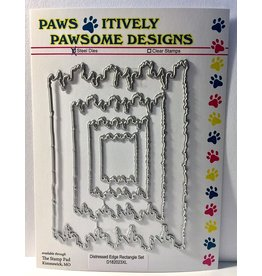 Paws-Itively Pawsome Designs Distressed Edge Rectangle Set - Die