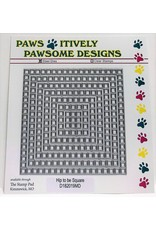 Paws-Itively Pawsome Designs Hip to be Square Cutout Set - Die