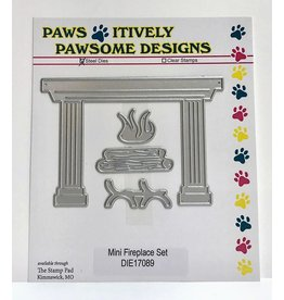 Paws-Itively Pawsome Designs Mini Fireplace Set - Die