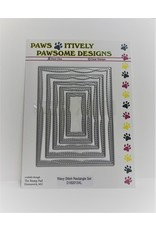 Paws-Itively Pawsome Designs Wavy Stitch Rectangle Set - Die