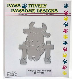 Paws-Itively Pawsome Designs Hanging w/Henrietta - Die