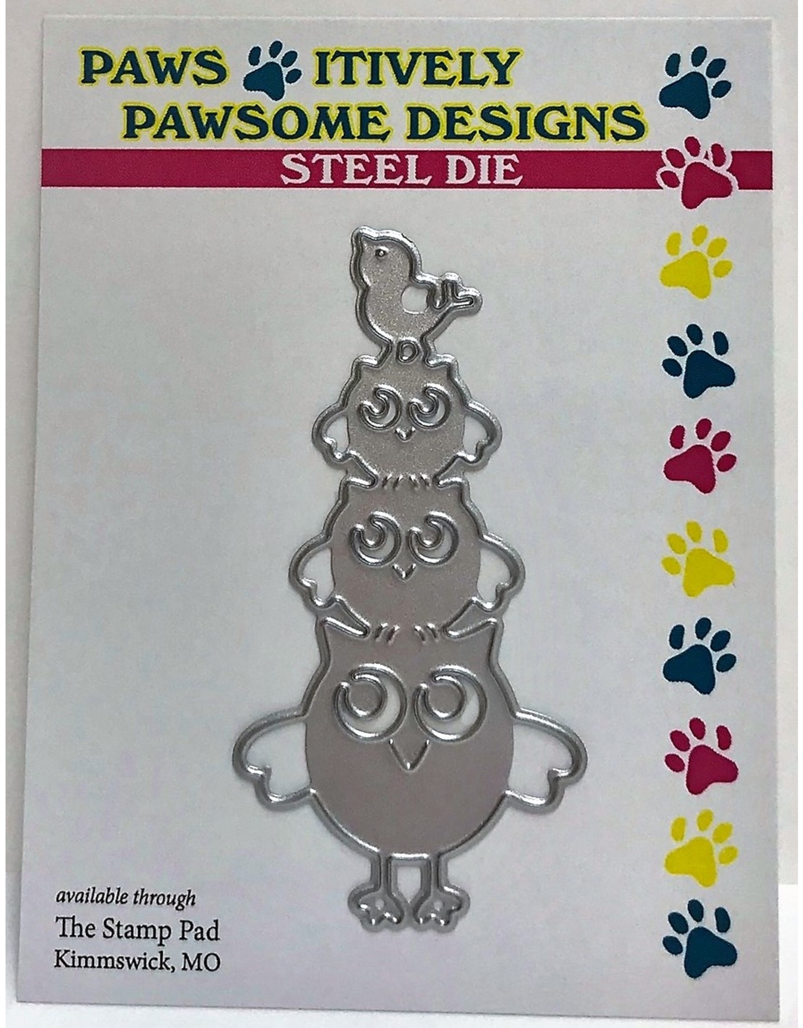 Paws-Itively Pawsome Designs Owl Stack - Die