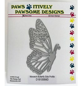 Paws-Itively Pawsome Designs Monarch Butterfly Side Profile - Die