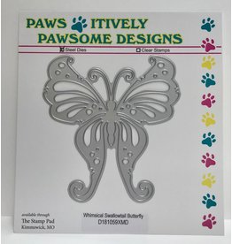 Paws-Itively Pawsome Designs Whimsical Swallowtail Butterfly - Die
