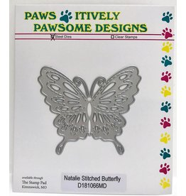 Paws-Itively Pawsome Designs Natalie Stitched Butterfly - Die