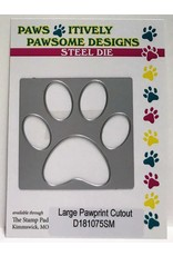 Paws-Itively Pawsome Designs Large Pawprint Cutout - Die