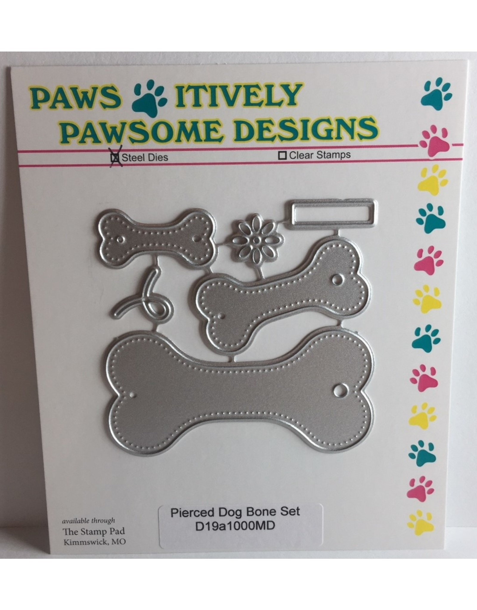 Paws-Itively Pawsome Designs Pierced Dog Bone Tag Set - Die