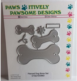 Paws-Itively Pawsome Designs Pierced Dog Bone Tag Set - Die